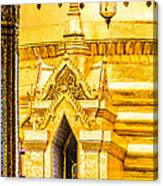 Golden Chedi - Temple Of The Emerald Buddha Canvas Print