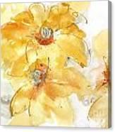 Golden Clematis 1 Canvas Print