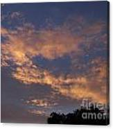 Golden Cloud Sunset Canvas Print
