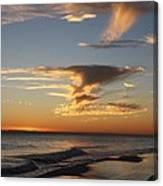 Golden Clouds And Blue Sky Canvas Print