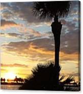 Golden Clouds Over Tampa Bay Canvas Print