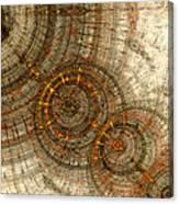 Golden Cogwheels Canvas Print