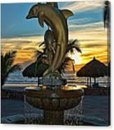 Golden Dolphins  Canvas Print