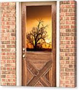 Golden Doorway Window View Canvas Print