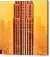 Golden Empire State Canvas Print