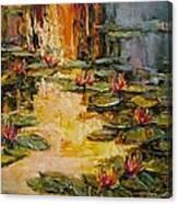 Golden Evening Lights Canvas Print
