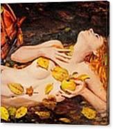 Golden Fall - The River Girl Canvas Print