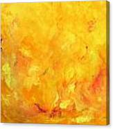 Golden Flames Canvas Print