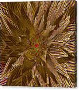 Golden Flower - Ruby Heart Canvas Print