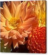 Golden Flowers Upclose  Canvas Print
