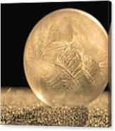 Golden Frozen Bubble Canvas Print