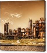 Golden Gas Works Canvas Print