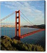 Golden Gate At Sunset Canvas Print