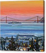 Golden Gate At Twilight Canvas Print