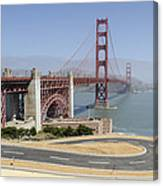 Golden Gate Bridge And Bike Path Canvas Print