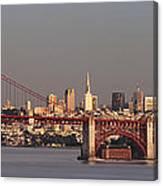Golden Gate Bridge And San Francisco Panoramic Canvas Print