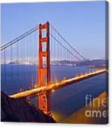 Golden Gate Bridge At Dusk Canvas Print