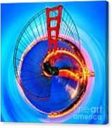 Golden Gate Bridge Circagraph Canvas Print