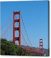 Golden Gate Bridge In Spring Canvas Print