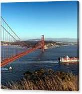 Golden Gate Bridge Scenic View In San Francisco Canvas Print