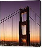 Golden Gate Bridge Sunrise From Marin Canvas Print