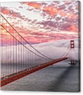 Golden Gate Bridge Sunset Evening Commute Canvas Print