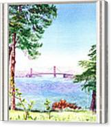 Golden Gate Bridge View Window Canvas Print