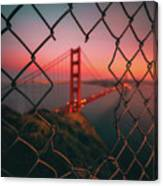 Golden Gate Caged Canvas Print