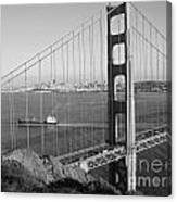 Golden Gate In Bw Canvas Print
