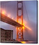 Golden Gate In Fog Canvas Print