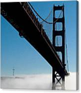 Golden Gate - In Silhouette  Canvas Print