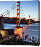 Golden Gate Night Canvas Print