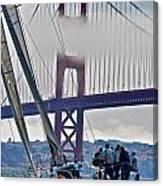 Golden Gate Sailing Canvas Print