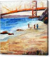 Golden Gate Stroll Canvas Print