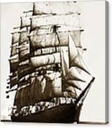 Golden Gate Tall Ship Circa 1905 Canvas Print