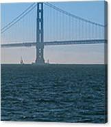 Golden Gate - The Fog Is Lifting Canvas Print