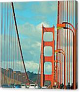 Golden Gate Walkway Canvas Print