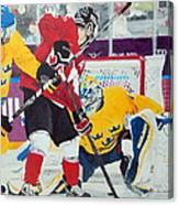 Golden Goal In Sochi Canvas Print
