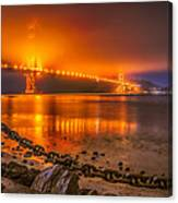 Golden Golden Gate Bridge  Canvas Print