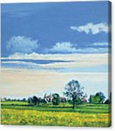 Golden Green Oasts Canvas Print
