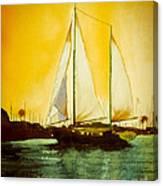 Golden Harbor  Canvas Print
