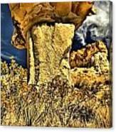 Golden Hoodoo Canvas Print