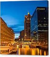 Golden Hour Milwaukee River Canvas Print