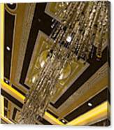 Golden Jewels And Gems - Sparkling Crystal Chandeliers  Canvas Print