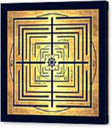 Golden Knowledge Labyrinth Canvas Print