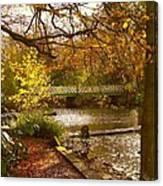 Golden Lake At Botanical Gardens Canvas Print