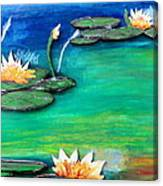 Golden Lillies Canvas Print
