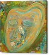 Golden Mask Canvas Print