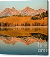 Golden Mountains  Reflection Canvas Print