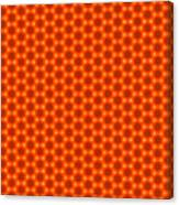 Golden Orange Honeycomb Hexagon Pattern Canvas Print